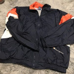 Vintage champion full zip windbreaker bears colors